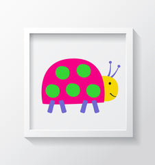Ladybug - Kids Bedroom Wall Art Collection-Di Lewis