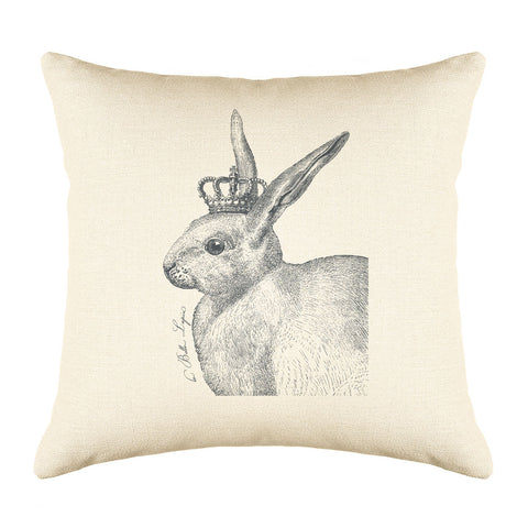 The Royal Rabbit Throw Pillow Cover