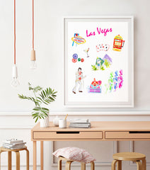 Las Vegas Art Print - Travel Print Wall Art Collection-Di Lewis