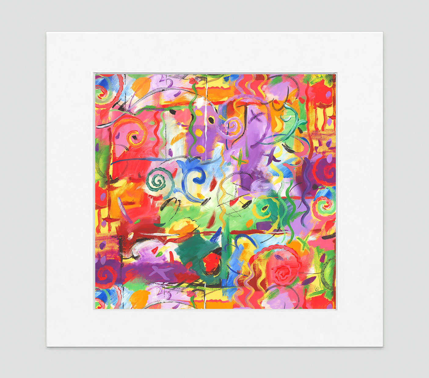 Le Fête Abstract Art Print Di Lewis Living Room Wall Decor