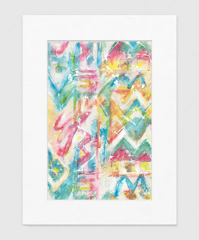 Les Angles Abstract Art Print Di Lewis Living Room Wall Decor