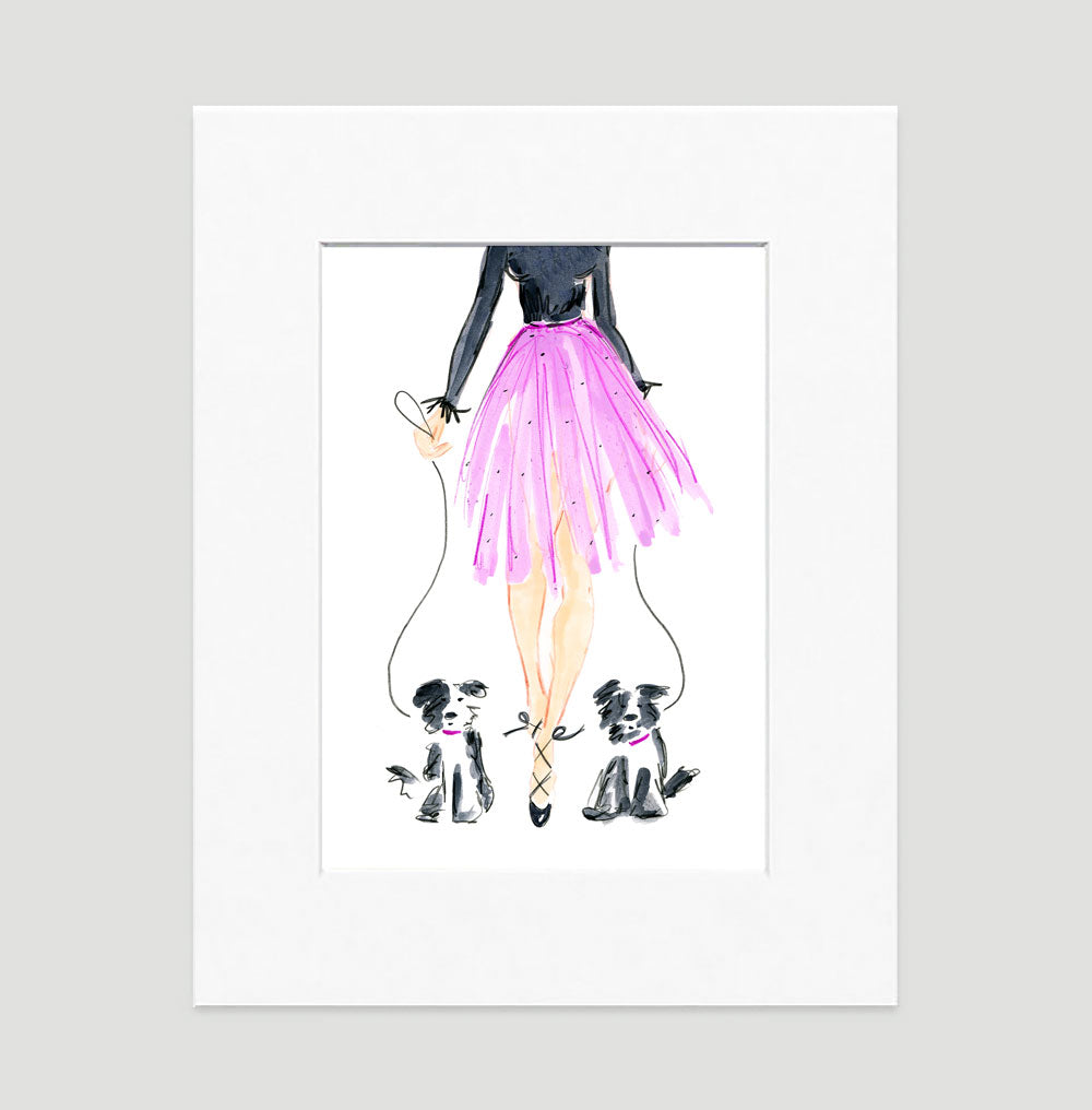 Let'S Dance Art Print - Fashion Illustration Wall Art Collection-Di Lewis