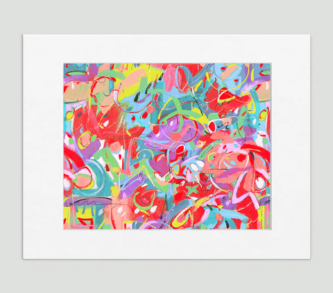 Liberation Abstract Art Print Di Lewis Living Room Wall Decor