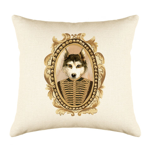 Lieutenant Husky Throw Pillow Cover