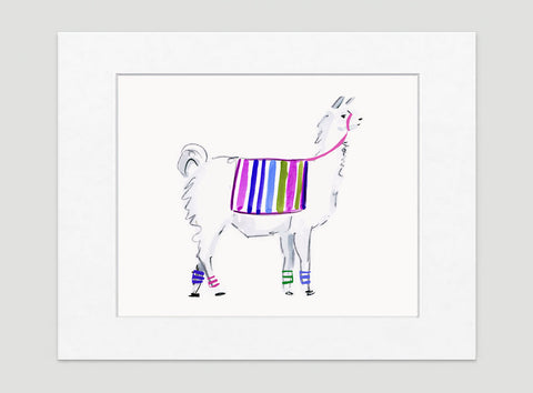 Lana Llama Art Print - Animal Illustrations Wall Art Collection-Di Lewis