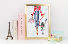 Look At Me Art Print - Fashion Illustration Wall Art Collection-Di Lewis