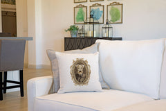 Lord Airedale Throw Pillow Cover