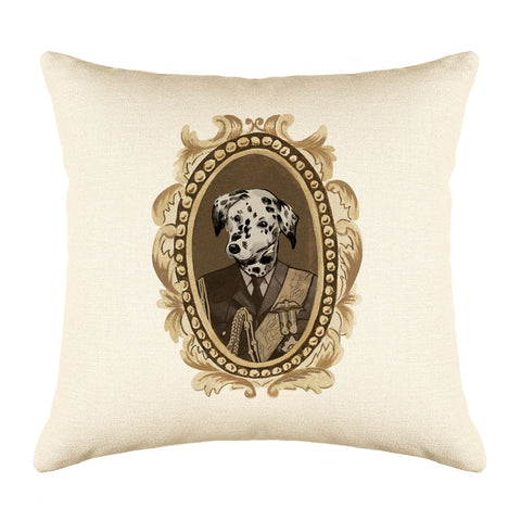 Lord Dalmatian Throw Pillow Cover - Dog Illustration Throw Pillow Cover Collection-Di Lewis
