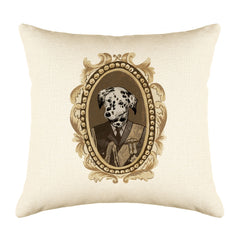 Lord Dalmatian Throw Pillow Cover - Dog Illustration Throw Pillow Cover Collection