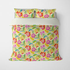 DECORATIVE DUVET COVERS & BEDDING SETS LUAU MANGO - FLORAL DESIGN - HYPOALLERGENIC