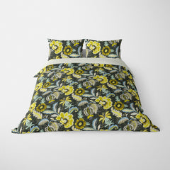 DECORATIVE DUVET COVERS & BEDDING SETS LUAU BAMBOO - FLORAL DESIGN - HYPOALLERGENIC