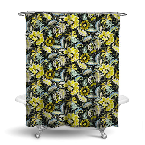 LUAU DECORATIVE SHOWER CURTAIN BAMBOO – SHOWER CURTAIN COLLECTION
