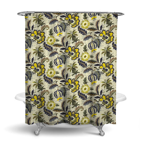 LUAU DECORATIVE SHOWER CURTAIN DUSK – SHOWER CURTAIN COLLECTION