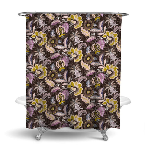 LUAU DECORATIVE SHOWER CURTAIN ROSE GOLD – SHOWER CURTAIN COLLECTION