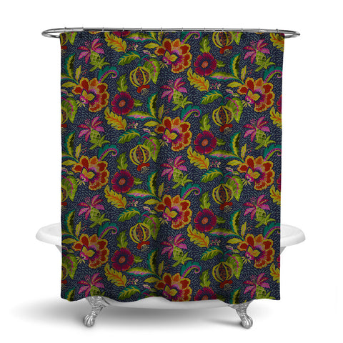 LUAU DECORATIVE SHOWER CURTAIN JEWEL – SHOWER CURTAIN COLLECTION