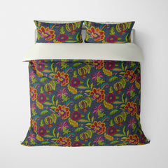 DECORATIVE DUVET COVERS & BEDDING SETS LUAU JEWEL - FLORAL DESIGN - HYPOALLERGENIC