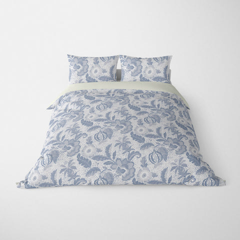 DECORATIVE DUVET COVERS & BEDDING SETS LUAU SLATE GREY - FLORAL DESIGN - HYPOALLERGENIC