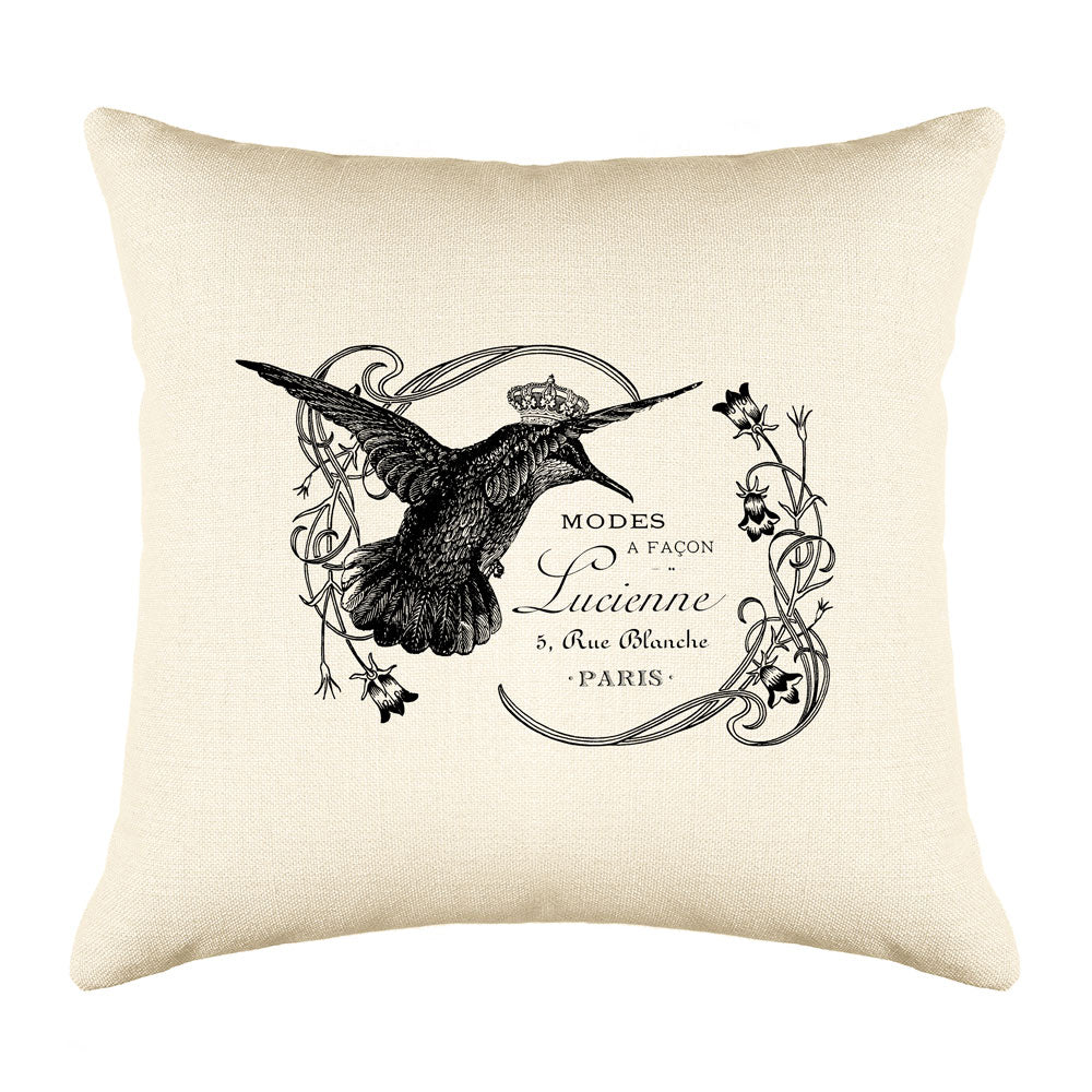 Lucienne Hummingbird Throw Pillow Cover - Decorative Designs Throw Pillow Cover Collection-Di Lewis