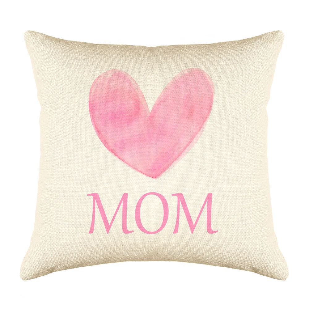 Big Pink Heart – Mom Throw Pillow Cover – Mother's Day Collection