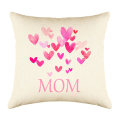 Pink Hearts Bursting – Mom Throw Pillow Cover – Mother's Day Collection