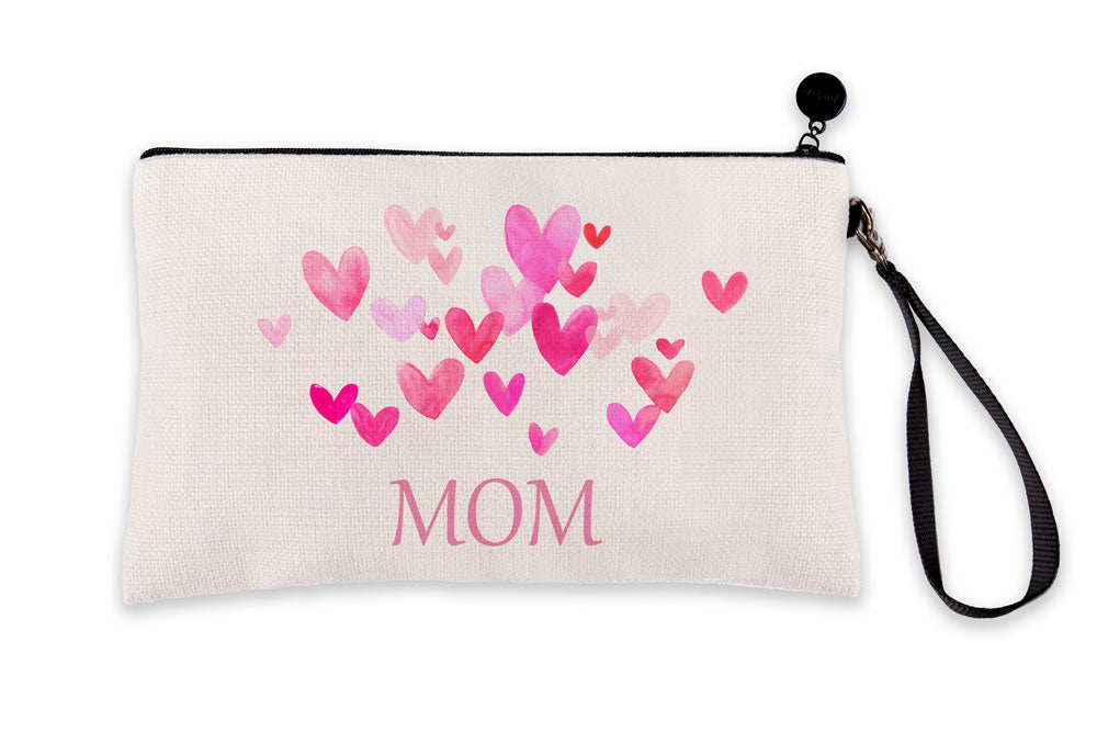 Pink Hearts Bursting – Mom Makeup Bag – Mother's Day Collection