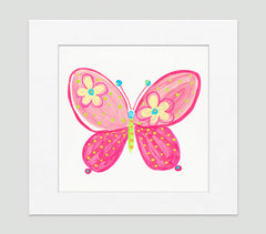 Madam Butterfly Art Print - Kids Wall Art Collection-Di Lewis