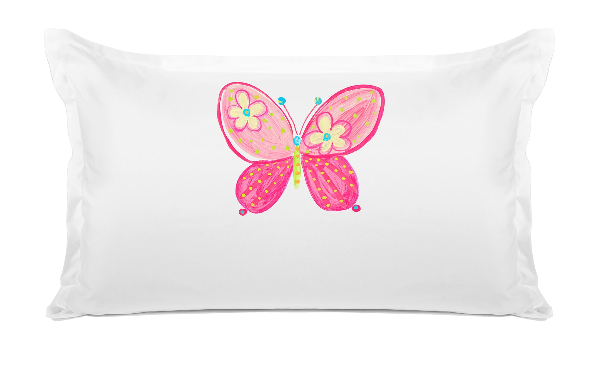 Madam Butterfly Personalized Kids Pillow case Di Lewis Kids Bedding