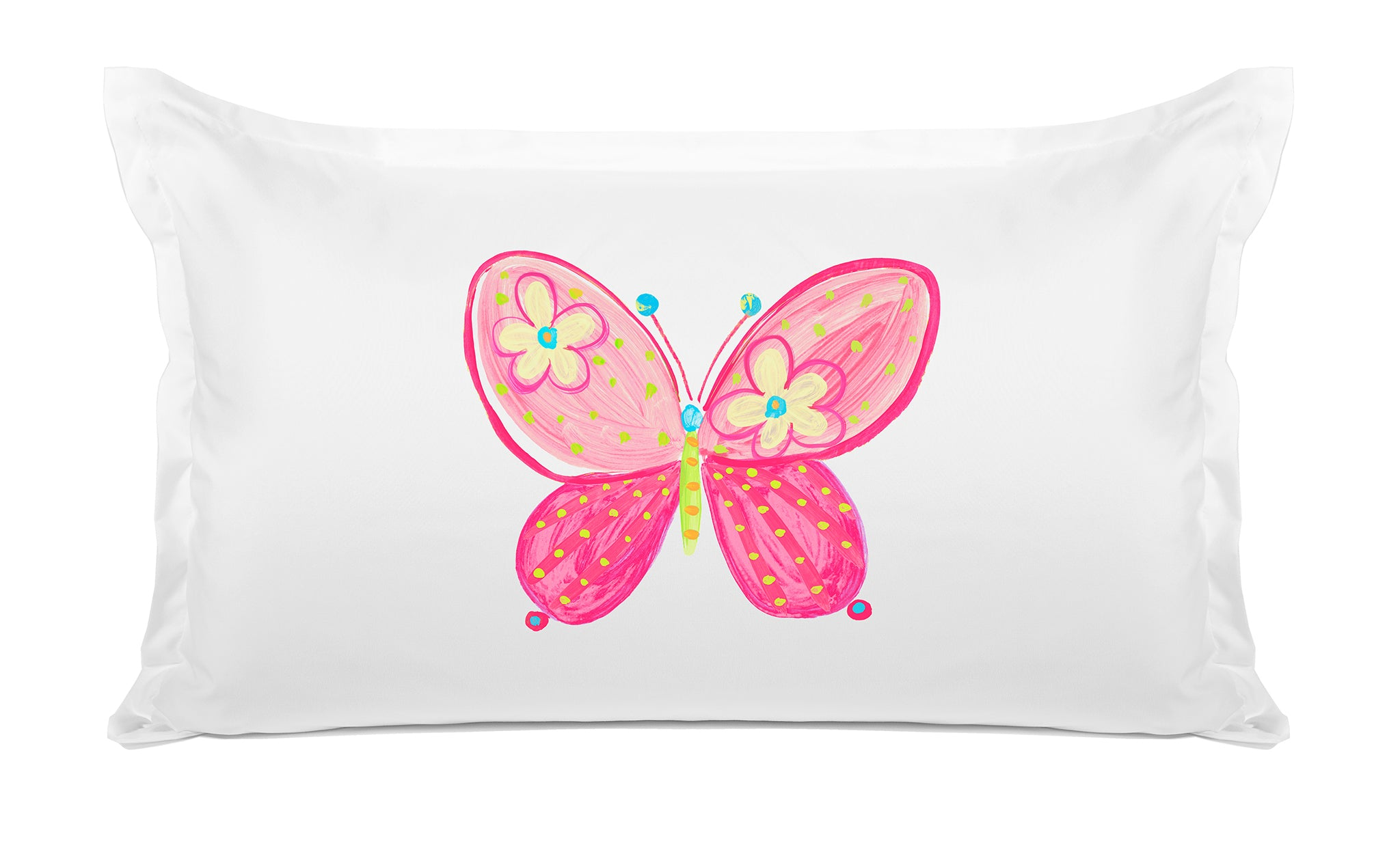 Madam Butterfly - Personalized Kids Pillowcase Collection-Di Lewis