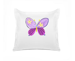 Madam Butterfly Personalized Kids Euro Sham Di Lewis Kids Bedding