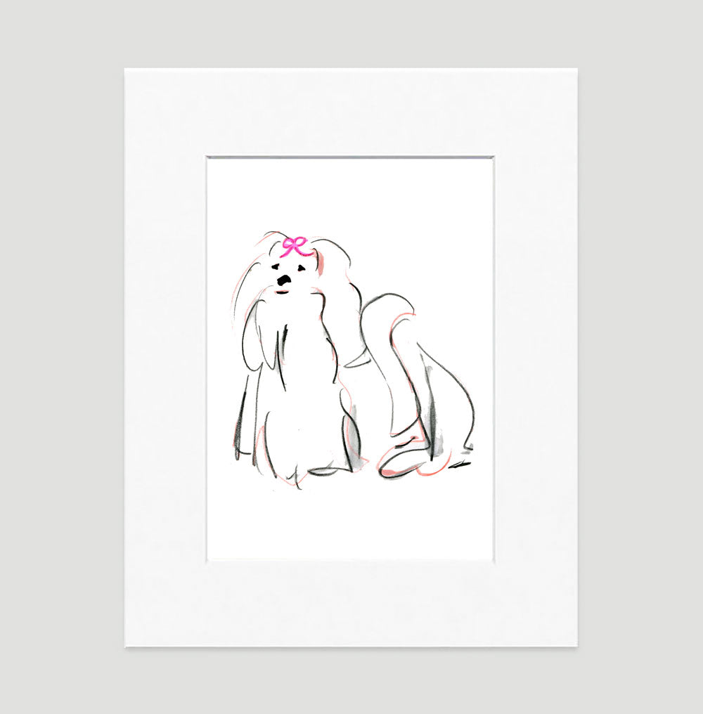 Missy Maltese Art Print - Dog Illustrations Wall Art Collection