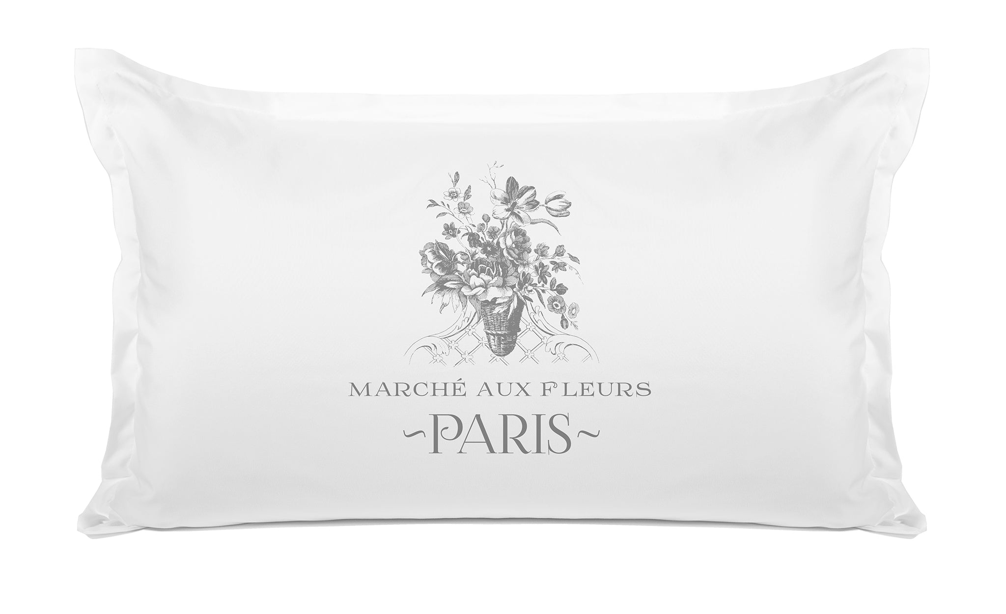 Marché Aux Fleurs Floral - Decorative Pillowcase Collection-Di Lewis