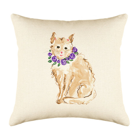 Marmalade Throw Pillow Cover - Cat Illustration Throw Pillow Cover Collection