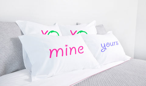mine, yours pillow sets Di Lewis bedroom decor