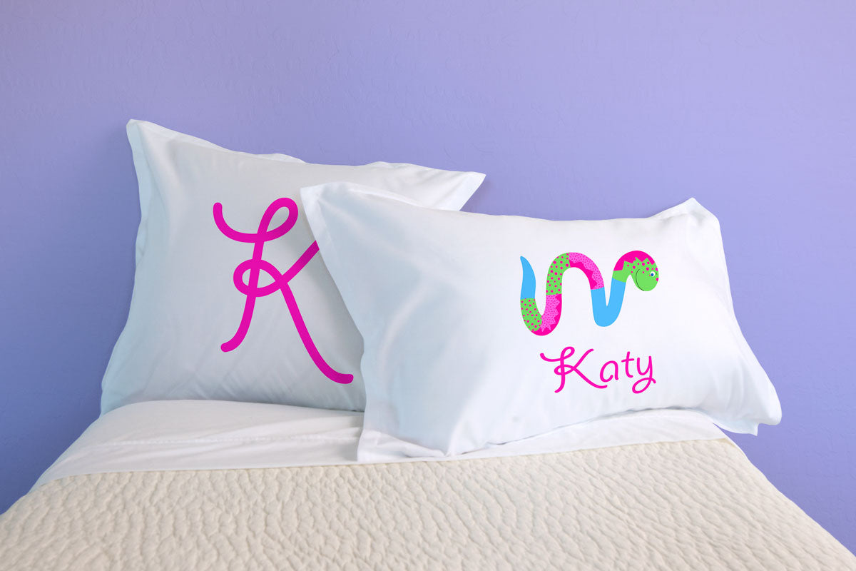 Miss Wiggle - Personalized Kids Pillowcase Collection-Di Lewis