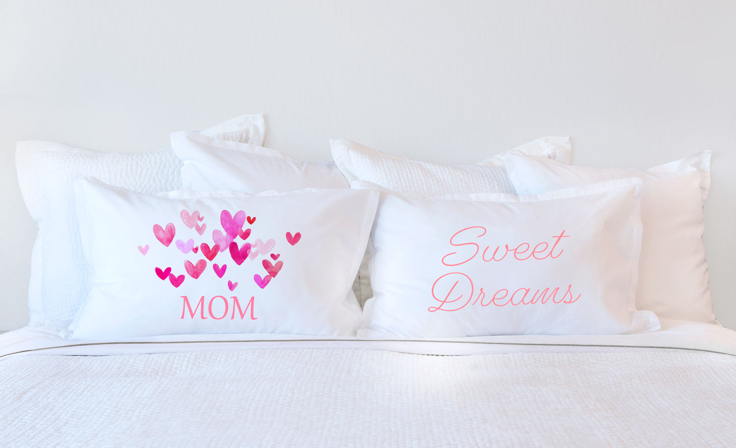 Pink Hearts Bursting – Mother's Day Pillowcase Collection