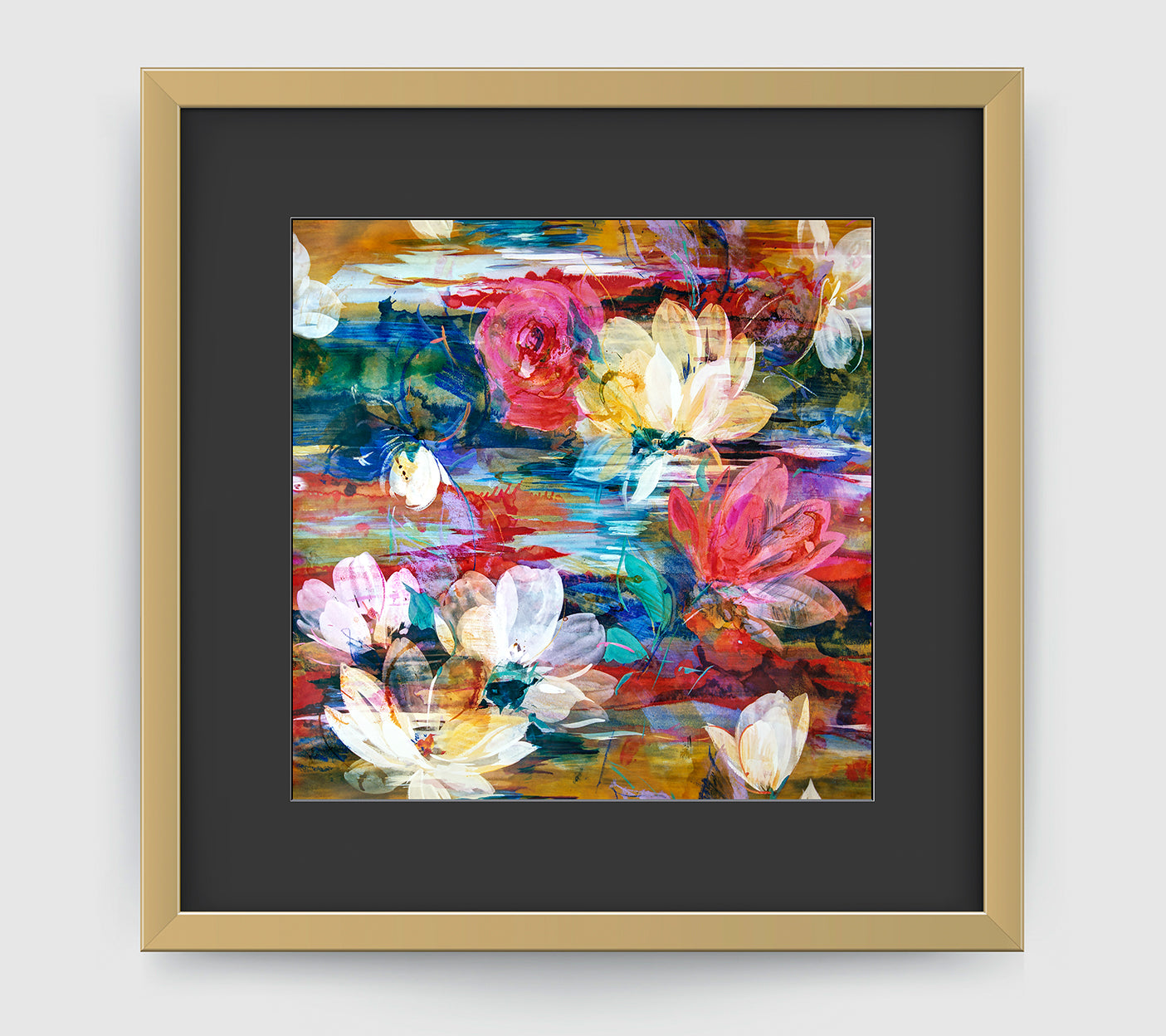 Monet Multi Impressionist Art Print Di Lewis Living Room Decor