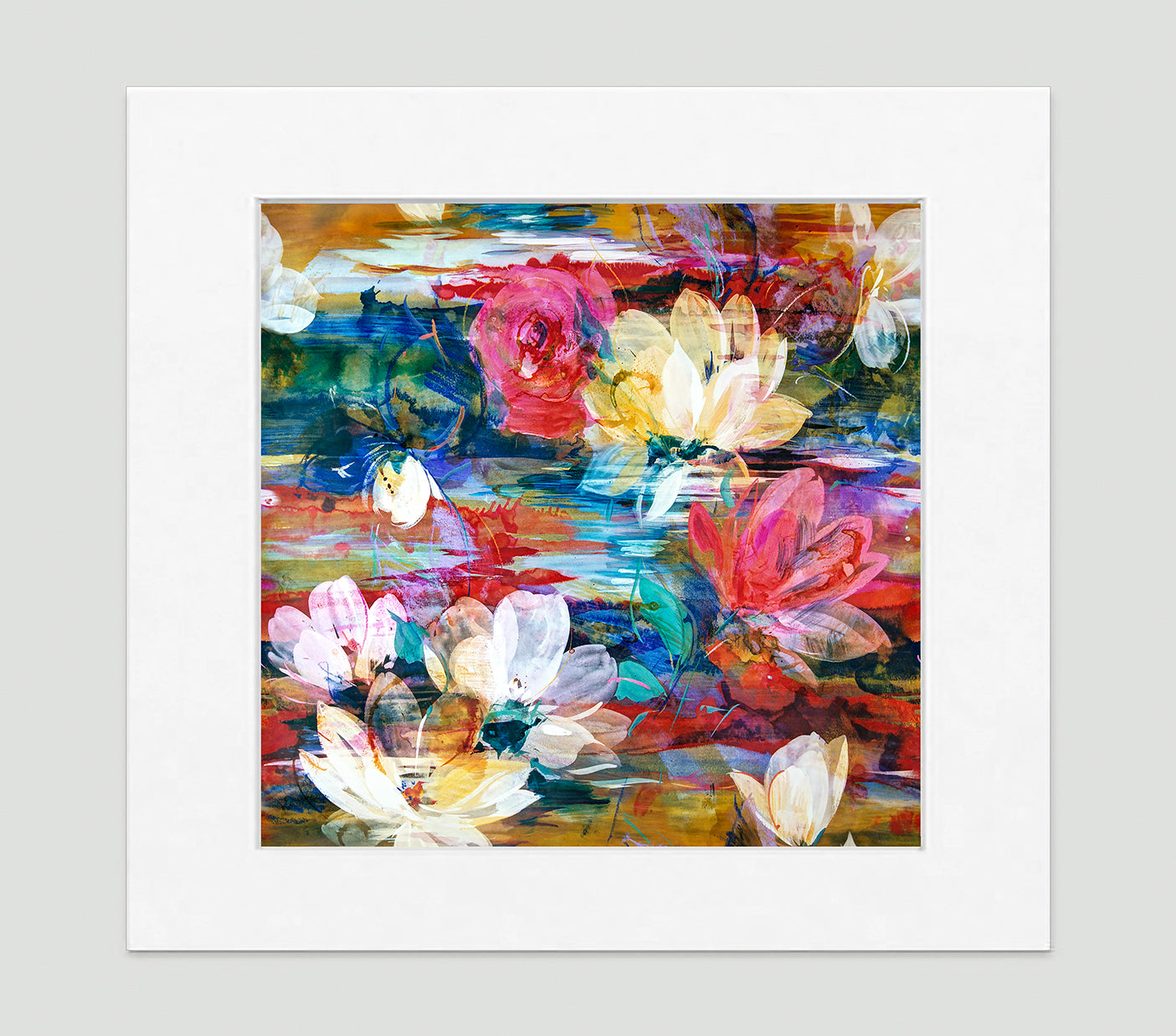 Monet Multi Art Print - Impressionist Art Wall Decor Collection-Di Lewis