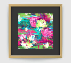 Monet Pink Green Art Print - Impressionist Art Wall Decor Collection-Di Lewis