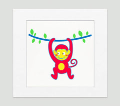 Monkey Business Art Print - Kids Wall Art Collection-Di Lewis