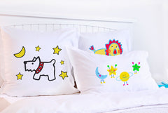 Moon Dog - Personalized Kids Pillowcase Collection-Di Lewis