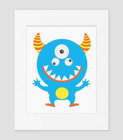 Funny Monster - Kids Wall Art Collection-Di Lewis
