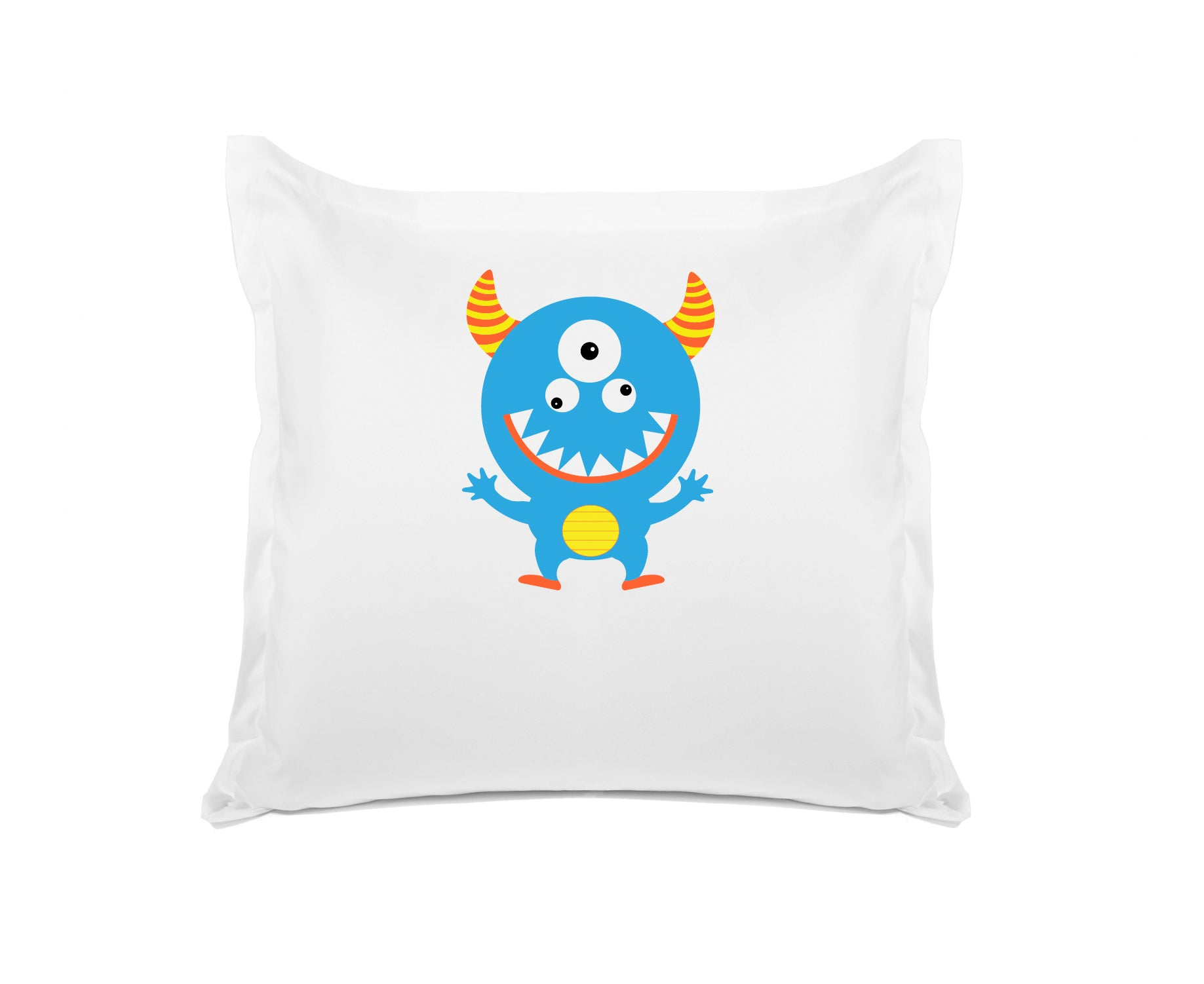 Morris the Monster Personalized Kids Euro Sham Di Lewis Kids Bedding