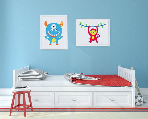 Morris the Monster Kids Wall Decor Di Lewis Kids Bedroom Decor