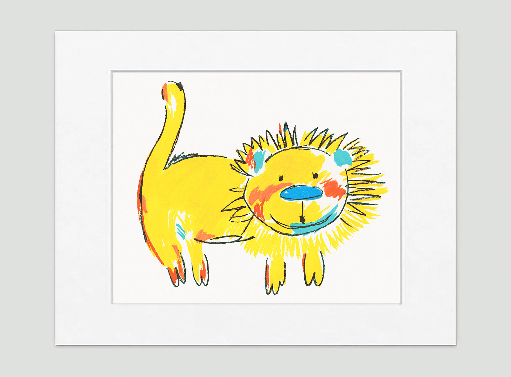 Mr Leo Art Print - Kids Wall Art Collection-Di Lewis