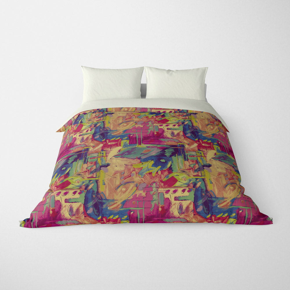 ABSTRACT DUVET COVERS & BEDDING SETS - MUSEE JEWEL - GEOMETRIC DESIGN - HYPOALLERGENIC