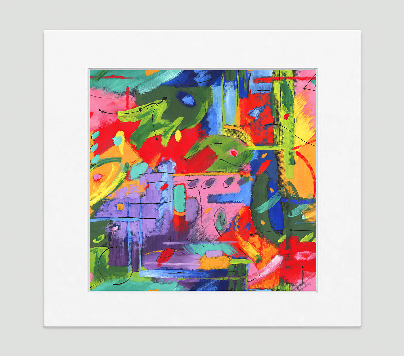 Musée Abstract Art Print Di Lewis Living Room Wall Decor