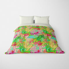 ABSTRACT DUVET COVERS & BEDDING SETS - MUSEE PAINTBOX - GEOMETRIC DESIGN - HYPOALLERGENIC