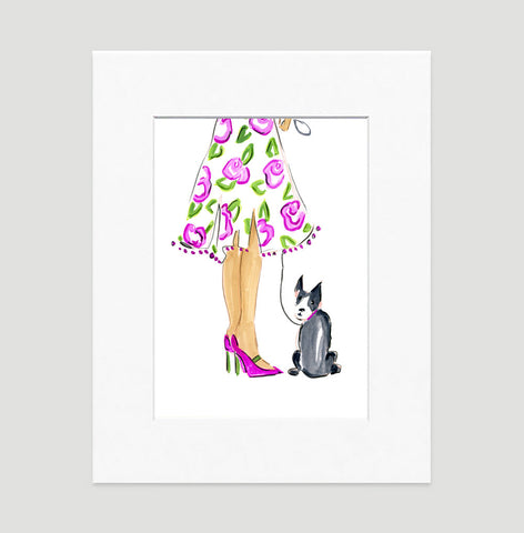 My Date - Fashion Illustration Wall Art Collection-Di Lewis