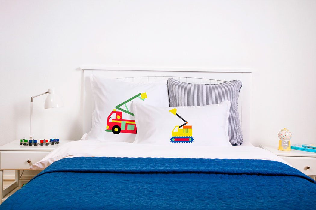 Bulldozer - Personalized Kids Pillowcase Collection