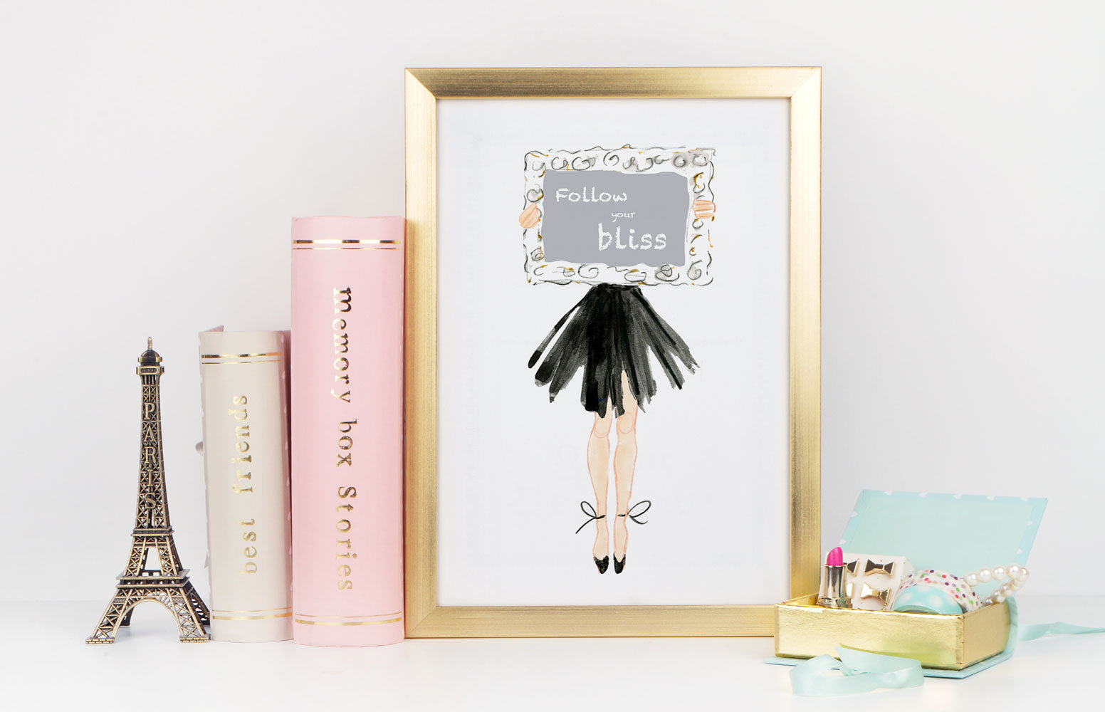 My Way Art Print - Fashion Illustration Wall Art Collection-Di Lewis